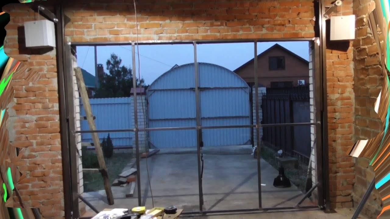 Подъёмные ворота в гараж своими руками
