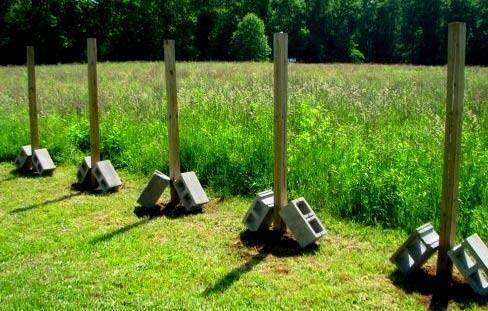 Как сделать бетонирование столбов для забора