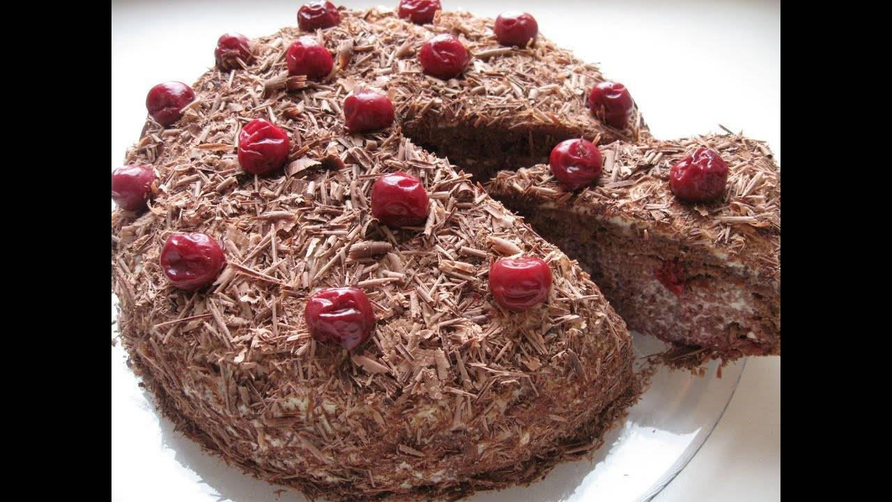 Торт «пьяная вишня» — 8 рецептов