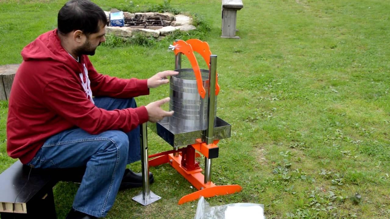 Простые модели пресса для отжима сока для изготовления своими руками