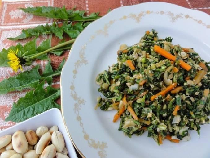 Салат из одуванчиков: польза и вред, рецепты, применение для похудения