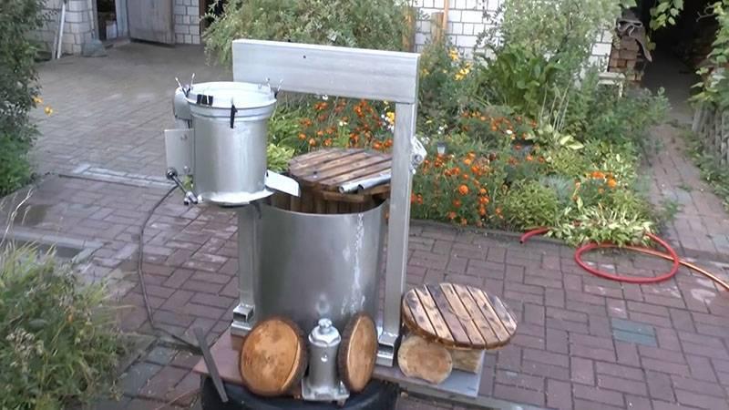 Изготовление пресса для выжимки сока из яблок