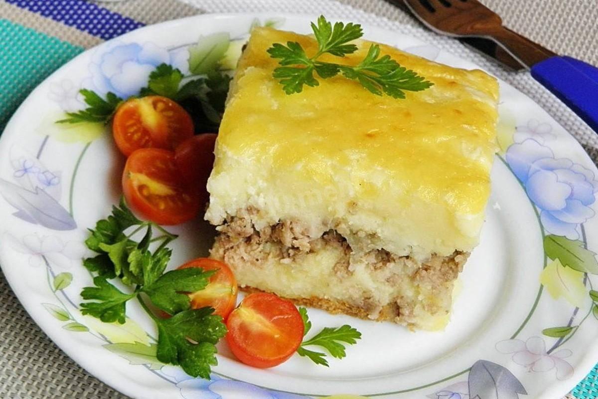 Картофельная запеканка с фаршем (мясом) в духовке