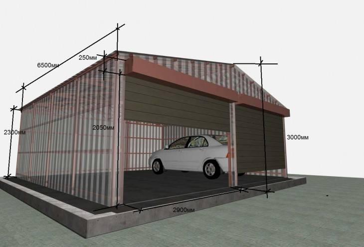 Строим гараж своими руками по чертежам
