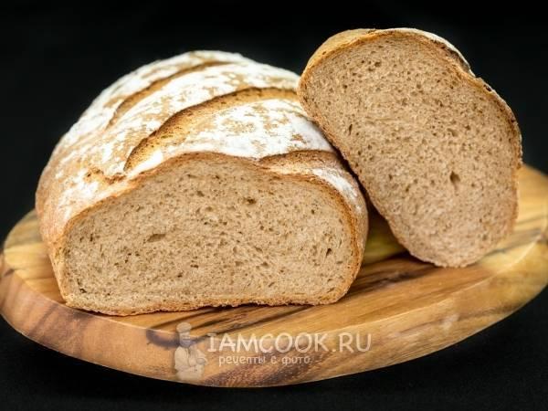 Рецепт пшеничного хлеба на ржаной закваске в домашней духовке с фото и видео