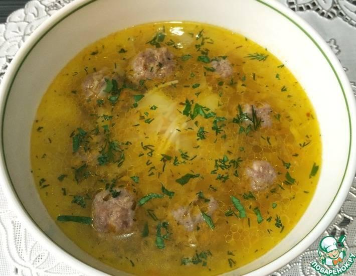 Суп с курицей и макаронами