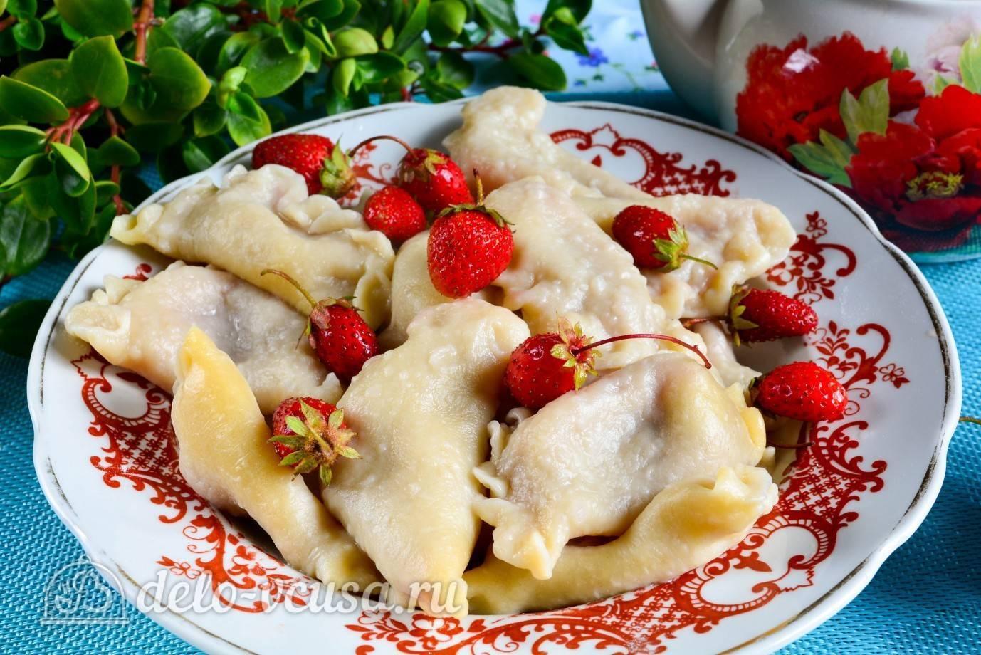 Вареники с вишней. пошаговые рецепты приготовления со свежей или замороженной вишней