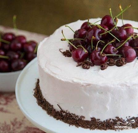 Домашний торт «пьяная вишня»: рецепт с фото