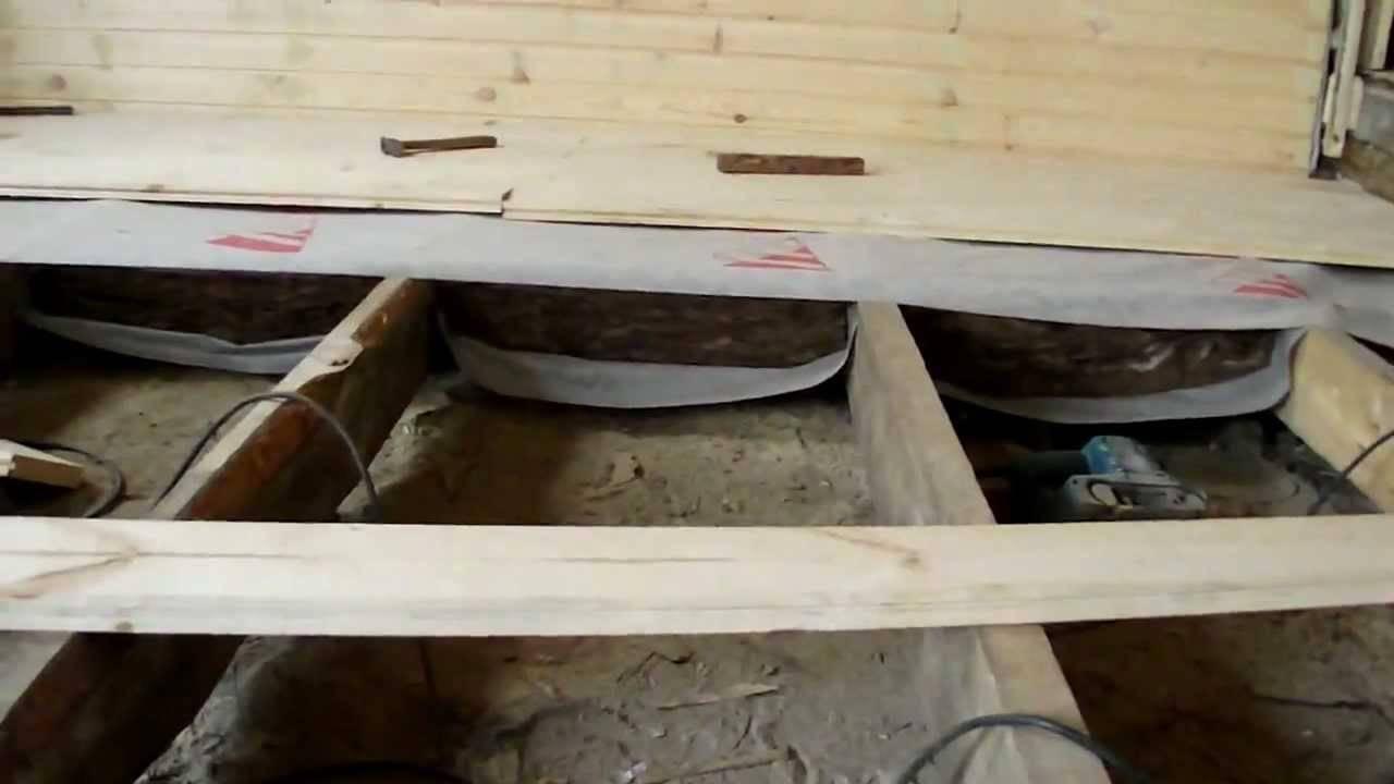 Утепление под деревянные полы