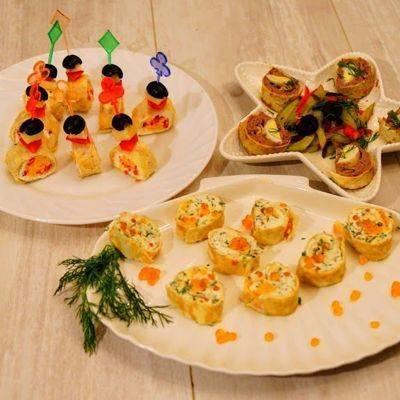 Закуски для фуршета – 10 рецептов на праздничный стол