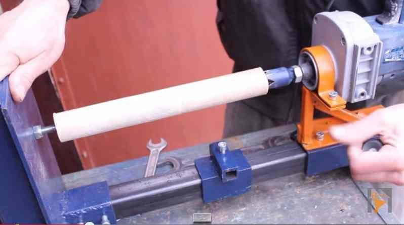 Как сделать самодельный токарный станок из дрели для дома