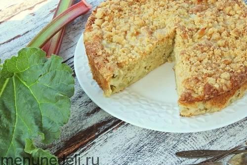 8 вкусных рецептов пирога с ревенем
