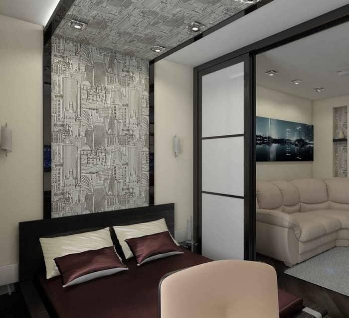 Спальня и гостиная в одной комнате: примеры зонирования и дизайна