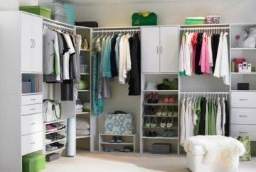 Как сделать маленькую гардеробную комнату