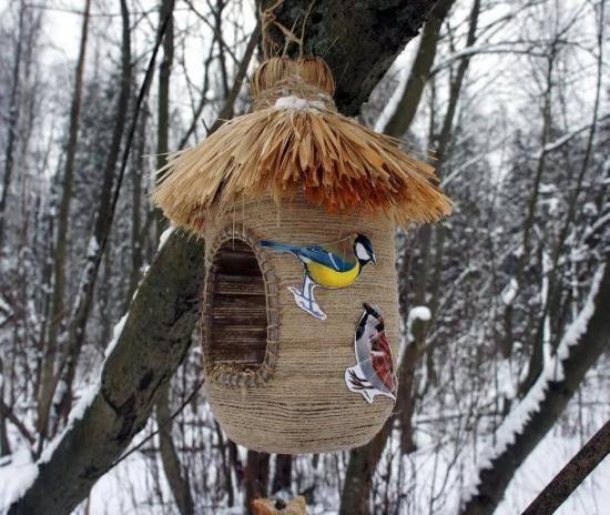 Кормушка для птиц из подручных материалов своими руками 700 фото, мастер классы