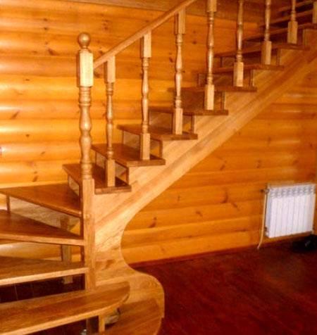 Способы крепления балясин к деревянной лестнице