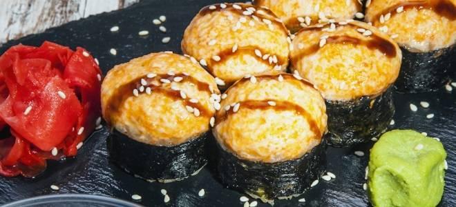 Запеченные роллы: 5 рецептов с фото пошагово. как приготовить горячие роллы?