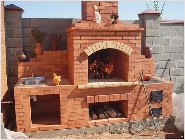 Как своими руками сделать садовую печь барбекю
