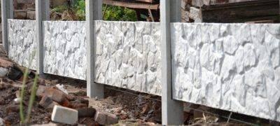 Статья: бетонные заборы и ограждения: виды, установка и монтаж своими руками