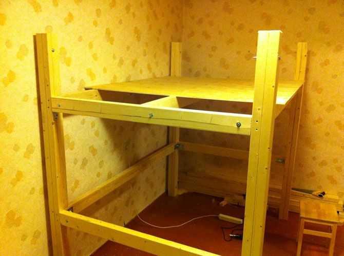 Двухъярусная кровать своими руками, или свистать всех наверх