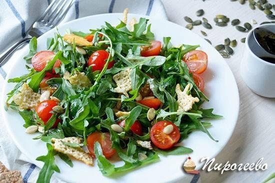 Салат с рукколой — 10 рецептов