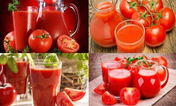 Сок томатный, польза и вред для организма человека