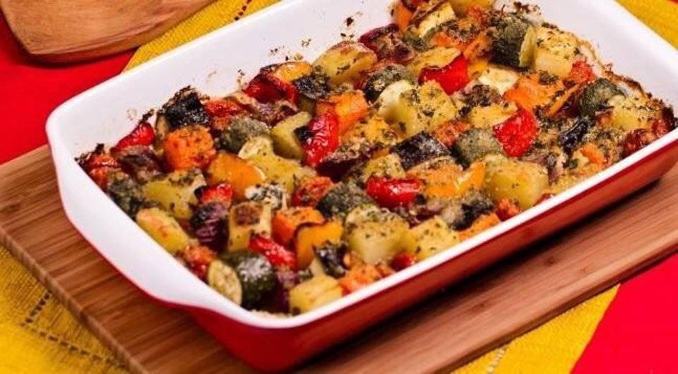 Запеченные овощи в духовке - 5 рецептов с фото пошагово