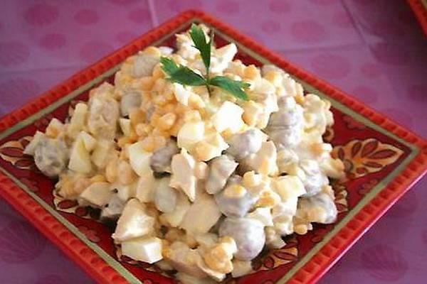 Рецепты простых и вкусных салатов с маринованными грибами