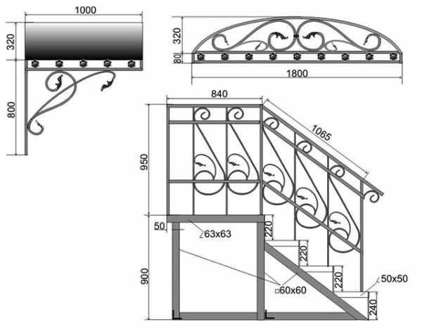 Инструкция по созданию крыльца из профильной трубы