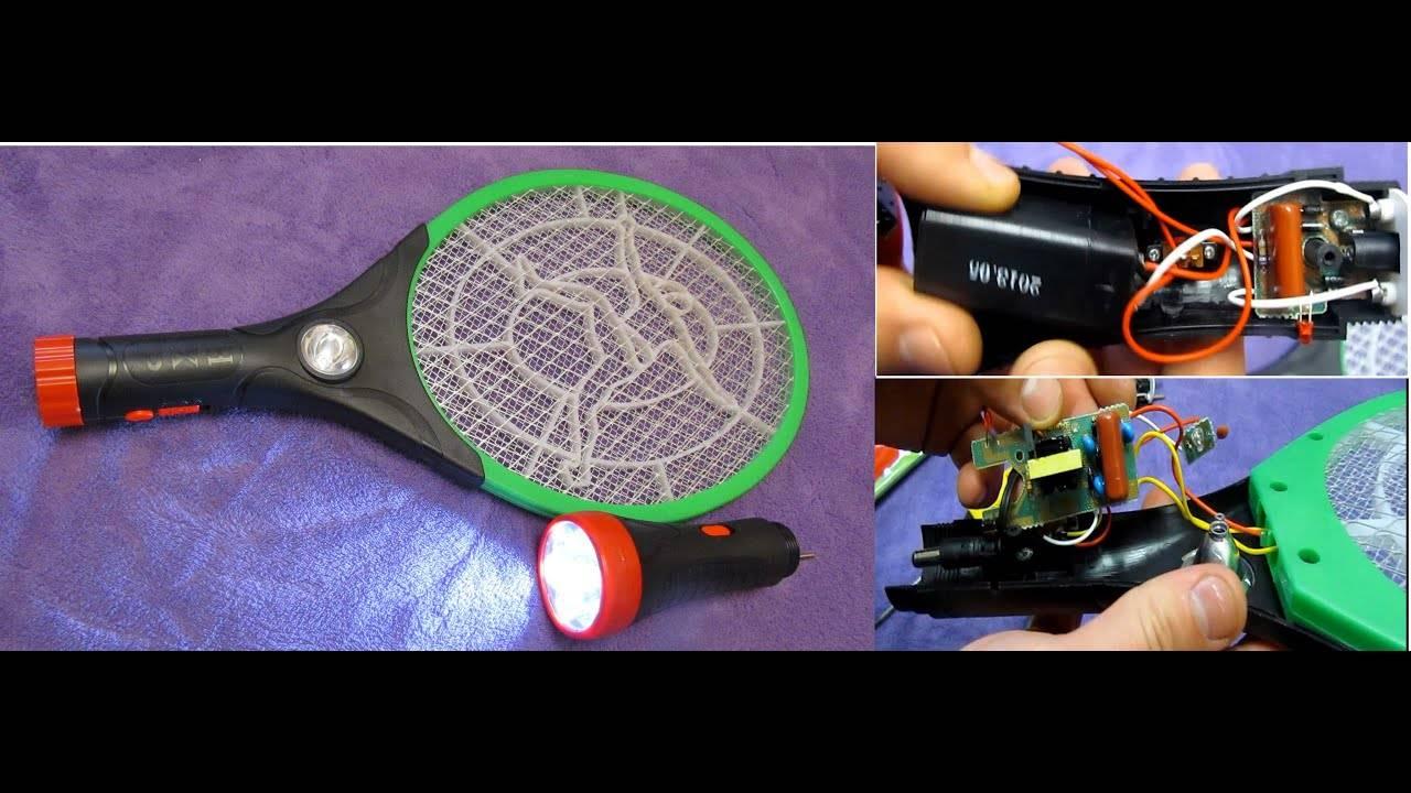Сделанная в китае электрическая мухобойка. электронная ловушка для насекомых схема китайской мухобойки