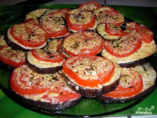 Баклажаны на сковороде с чесноком