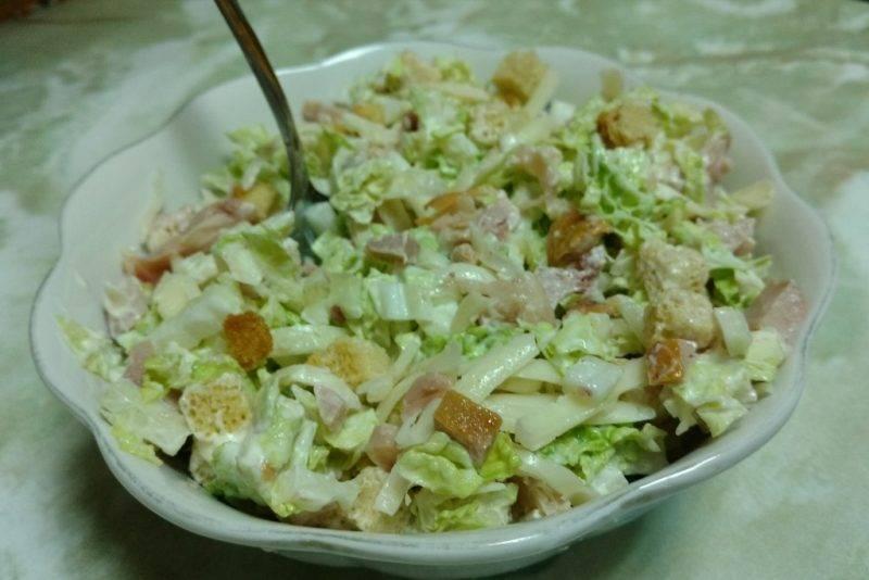 Очень вкусный салат с фасолью и сухариками — рецепты с консервированной и свежей фасолью