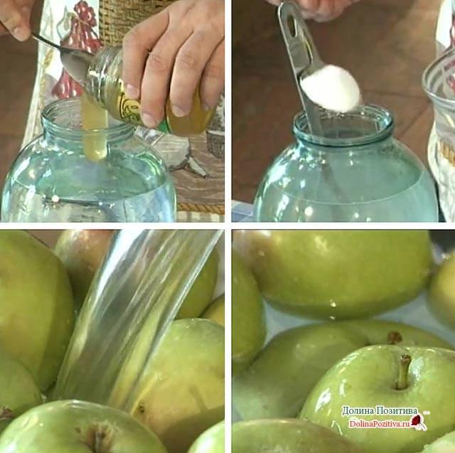 Наливные яблочки в собственном соку на зиму— домашняя заготовка с фото