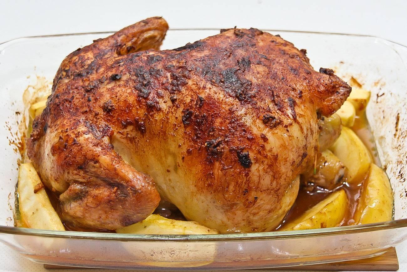 Курица фаршированная - 66 домашних вкусных рецептов приготовления